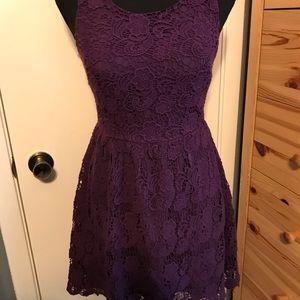 Crochet plum dress